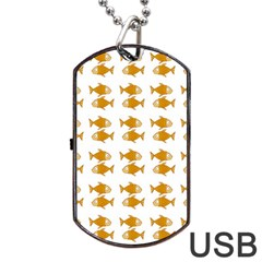 Small Fish Water Orange Dog Tag Usb Flash (two Sides) by Alisyart