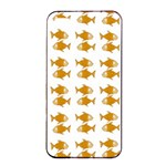 Small Fish Water Orange Apple iPhone 4/4s Seamless Case (Black) Front