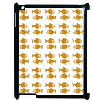 Small Fish Water Orange Apple iPad 2 Case (Black) Front