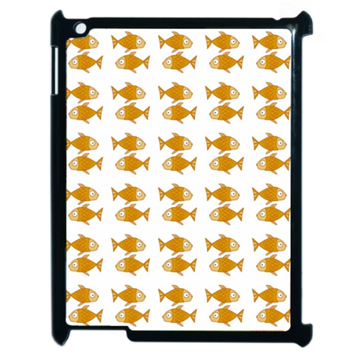 Small Fish Water Orange Apple iPad 2 Case (Black)