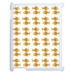 Small Fish Water Orange Apple iPad 2 Case (White) Front