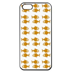 Small Fish Water Orange Apple Iphone 5 Seamless Case (black)