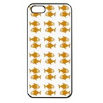 Small Fish Water Orange Apple iPhone 5 Seamless Case (Black) Front