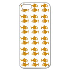 Small Fish Water Orange Apple Seamless Iphone 5 Case (clear)