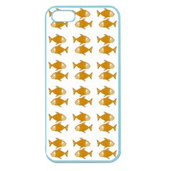 Small Fish Water Orange Apple Seamless Iphone 5 Case (color)