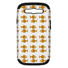Small Fish Water Orange Samsung Galaxy S Iii Hardshell Case (pc+silicone) by Alisyart