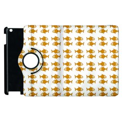 Small Fish Water Orange Apple Ipad 2 Flip 360 Case