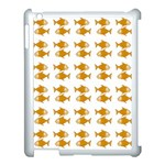Small Fish Water Orange Apple iPad 3/4 Case (White) Front