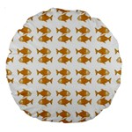 Small Fish Water Orange Large 18  Premium Round Cushions Front
