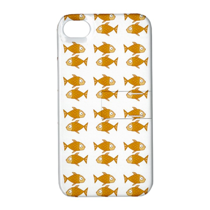 Small Fish Water Orange Apple iPhone 4/4S Hardshell Case with Stand