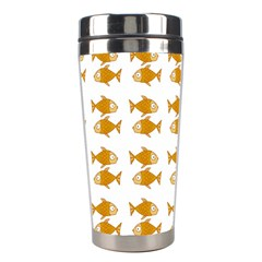 Small Fish Water Orange Stainless Steel Travel Tumblers