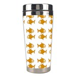 Small Fish Water Orange Stainless Steel Travel Tumblers Left