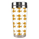Small Fish Water Orange Stainless Steel Travel Tumblers Center