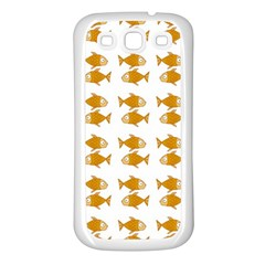 Small Fish Water Orange Samsung Galaxy S3 Back Case (white) by Alisyart