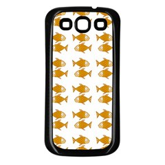 Small Fish Water Orange Samsung Galaxy S3 Back Case (black) by Alisyart