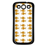 Small Fish Water Orange Samsung Galaxy S3 Back Case (Black) Front