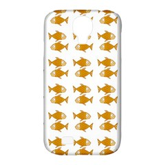 Small Fish Water Orange Samsung Galaxy S4 Classic Hardshell Case (pc+silicone) by Alisyart