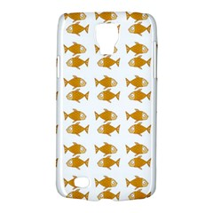 Small Fish Water Orange Samsung Galaxy S4 Active (i9295) Hardshell Case by Alisyart