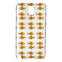 Small Fish Water Orange Samsung Galaxy Note 3 N9005 Hardshell Case by Alisyart