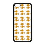 Small Fish Water Orange Apple iPhone 5C Seamless Case (Black) Front