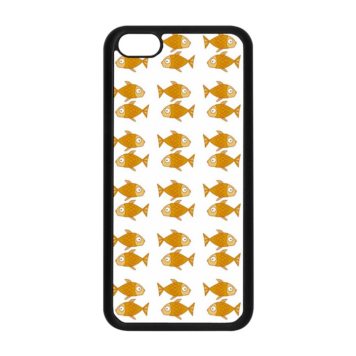 Small Fish Water Orange Apple iPhone 5C Seamless Case (Black)