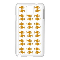 Small Fish Water Orange Samsung Galaxy Note 3 N9005 Case (white) by Alisyart
