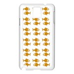 Small Fish Water Orange Samsung Galaxy Note 3 N9005 Case (White) Front
