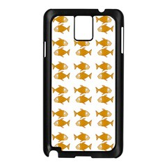 Small Fish Water Orange Samsung Galaxy Note 3 N9005 Case (black) by Alisyart
