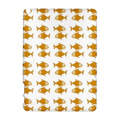 Small Fish Water Orange Samsung Galaxy Note 10 1 (p600) Hardshell Case by Alisyart