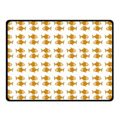 Small Fish Water Orange Double Sided Fleece Blanket (small)