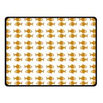 Small Fish Water Orange Double Sided Fleece Blanket (Small)  45 x34 Blanket Back
