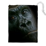 Gorilla Monkey Zoo Animal Drawstring Pouch (XXL) Front