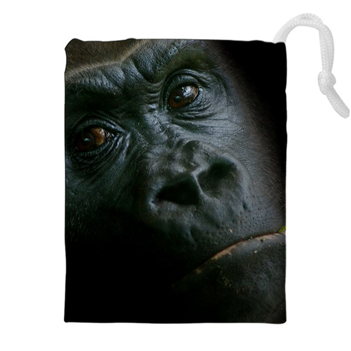 Gorilla Monkey Zoo Animal Drawstring Pouch (XXL)