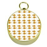 Small Fish Water Orange Gold Compasses Front