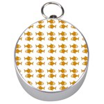 Small Fish Water Orange Silver Compasses Front