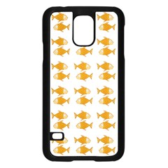 Small Fish Water Orange Samsung Galaxy S5 Case (black) by Alisyart