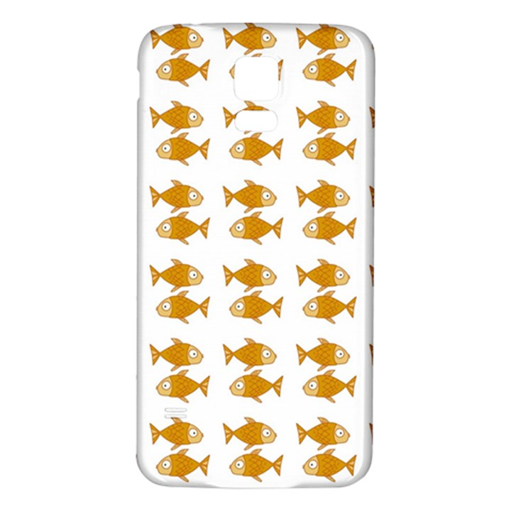 Small Fish Water Orange Samsung Galaxy S5 Back Case (White)