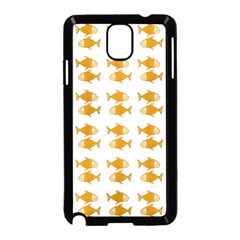 Small Fish Water Orange Samsung Galaxy Note 3 Neo Hardshell Case (black) by Alisyart
