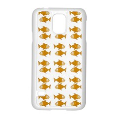 Small Fish Water Orange Samsung Galaxy S5 Case (white) by Alisyart