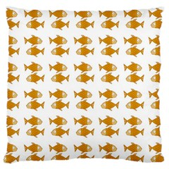 Small Fish Water Orange Standard Flano Cushion Case (two Sides)