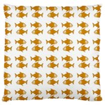 Small Fish Water Orange Standard Flano Cushion Case (Two Sides) Back