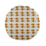 Small Fish Water Orange Standard 15  Premium Flano Round Cushions Back