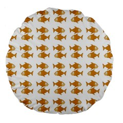 Small Fish Water Orange Large 18  Premium Flano Round Cushions