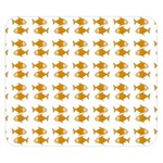 Small Fish Water Orange Double Sided Flano Blanket (Small)  50 x40 Blanket Back