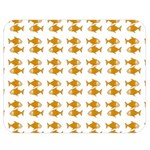 Small Fish Water Orange Double Sided Flano Blanket (Medium)  60 x50 Blanket Front