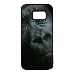 Gorilla Monkey Zoo Animal Samsung Galaxy S7 Black Seamless Case