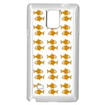 Small Fish Water Orange Samsung Galaxy Note 4 Case (White) Front