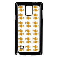 Small Fish Water Orange Samsung Galaxy Note 4 Case (black) by Alisyart