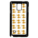 Small Fish Water Orange Samsung Galaxy Note 4 Case (Black) Front