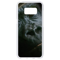 Gorilla Monkey Zoo Animal Samsung Galaxy S8 White Seamless Case by Nexatart